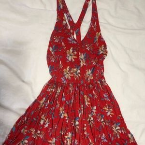 Urban Outfitters red romper dress